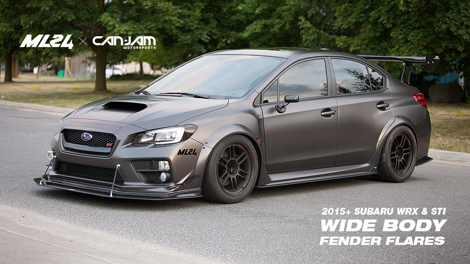 ML24 2015 Subaru WRX Wide Body Fender Flares